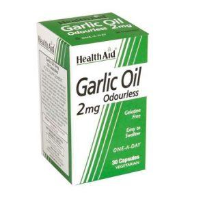 GARLIC OIL Cápsulas - Health Aid