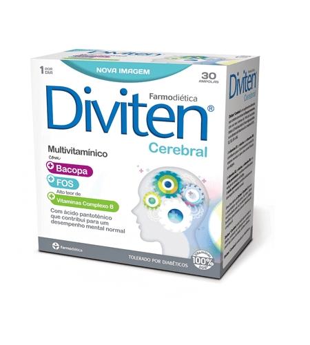 DIVITEN CEREBRAL 30 Ampolas - Farmodietica