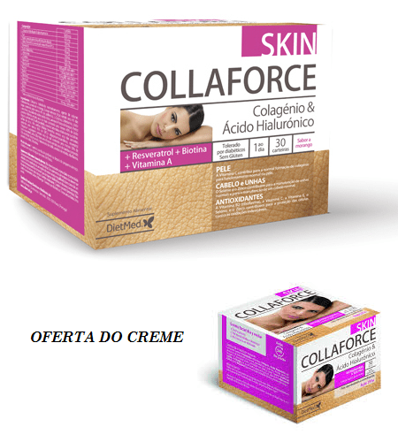 COLLAFORCE SKIN 30 Carteiras + Creme OFERTA Dietmed