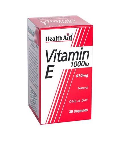Vitamina E - cápsulas Health Aid