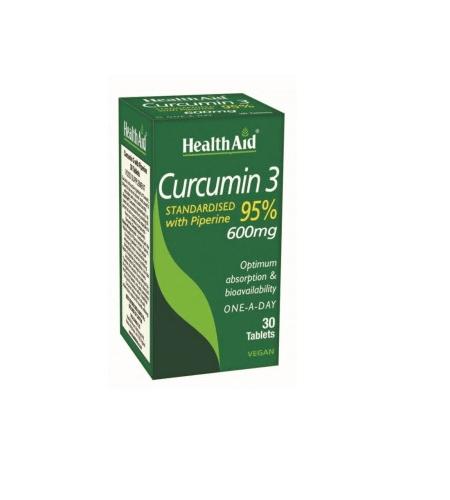 CURCUMIN 3600mg 30 Cápsulas - Health Aid