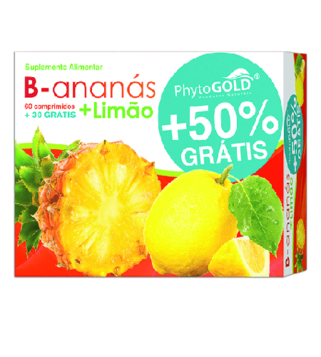 B-Ananás + Limão 90 Comprimidos - PhytoGold
