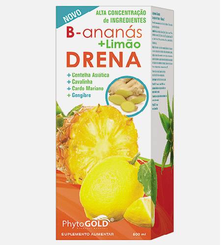 B-Ananas + limão Drena Xarope 500ml – Phytogold