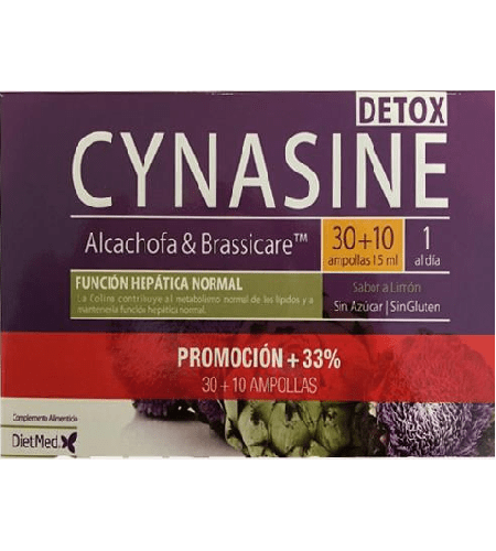 CYNASINE DETOX 30 + 10 Oferta Ampolas - Dietmed