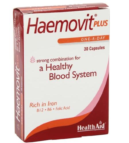 HAEMOVIT PLUS 30 Cápsulas - Health Aid