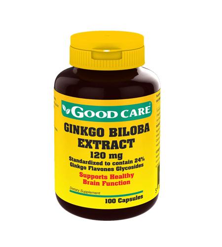 Ginkgo Biloba Extract 120mg 100 Cápsulas - Good Care