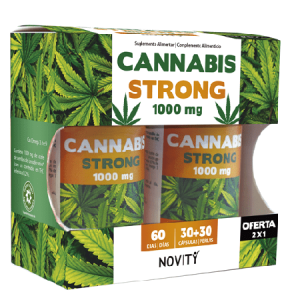 CANNABIS STRONG 1000MG 30+30 Capsulas - Dietmed