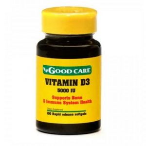 VITAMINA D3 5000IU 100 Capsulas - Good Care