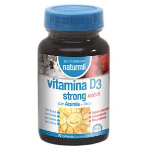 VITAMINA D3 Strong 4000UI 90 Comprimidos - Naturmil