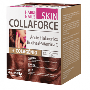 COLLAFORCE SKIN HAIR & NAILS 20 Ampolas - Dietmed