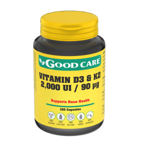VITAMIN D3 & K2 120 Cápsulas - Good Care