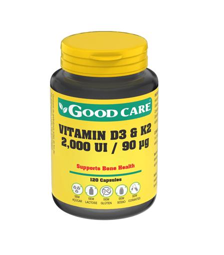 VitaminaD3 & K2 120 Cápsulas - Good Care