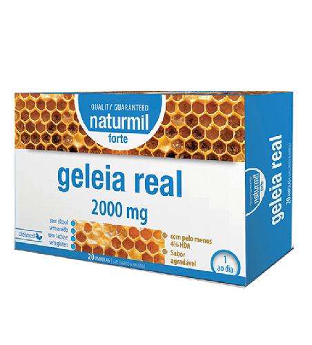 Geleia Real 2000mg 20 Ampolas Naturmil